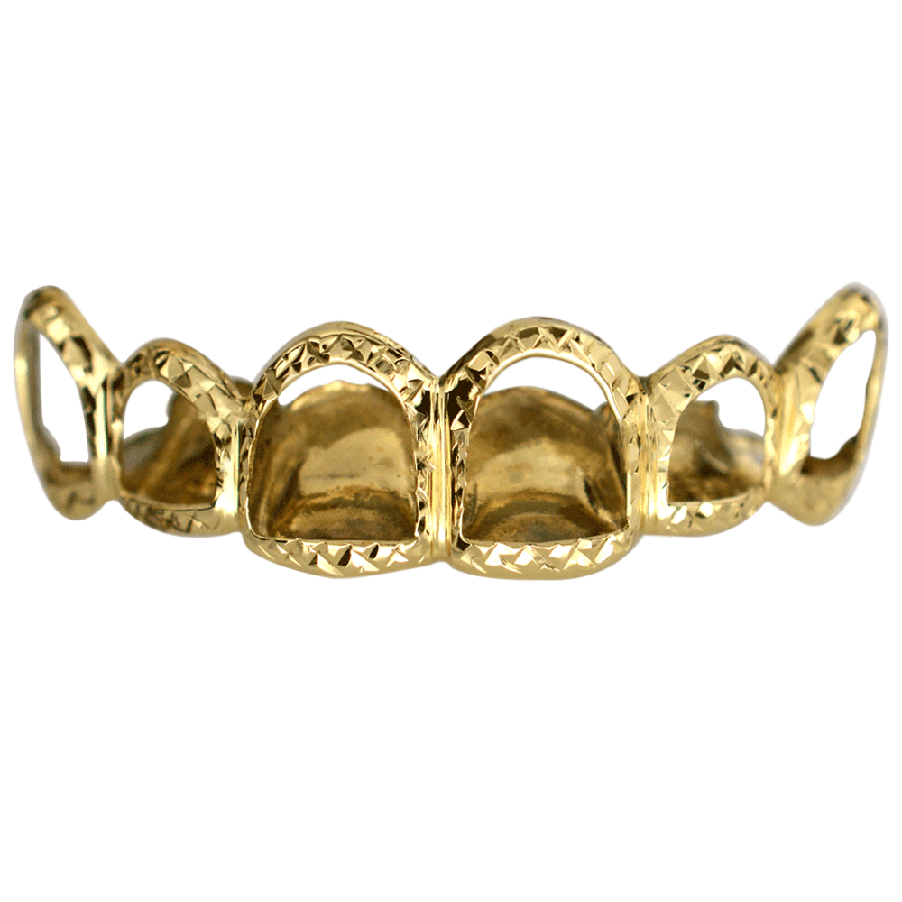 Gold Open Face Diamond Tips Set Buy Gold Teeth