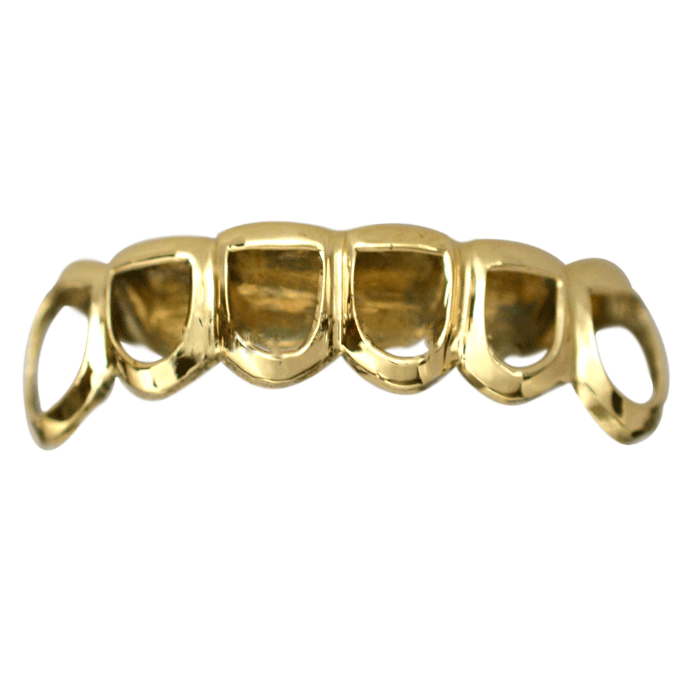 Gold Open Face Bottom Grill