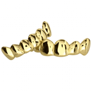 Gold Solid Top and Bottom Grillz