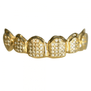 Gold Iced Out Top Grill