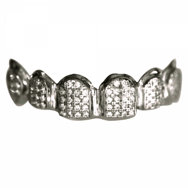 Silver Iced Out Top Grill
