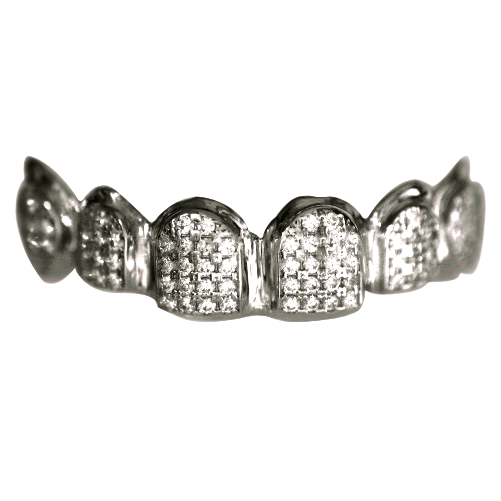 Sterling Silver Fully Iced Out Set Buy Gold Teeth