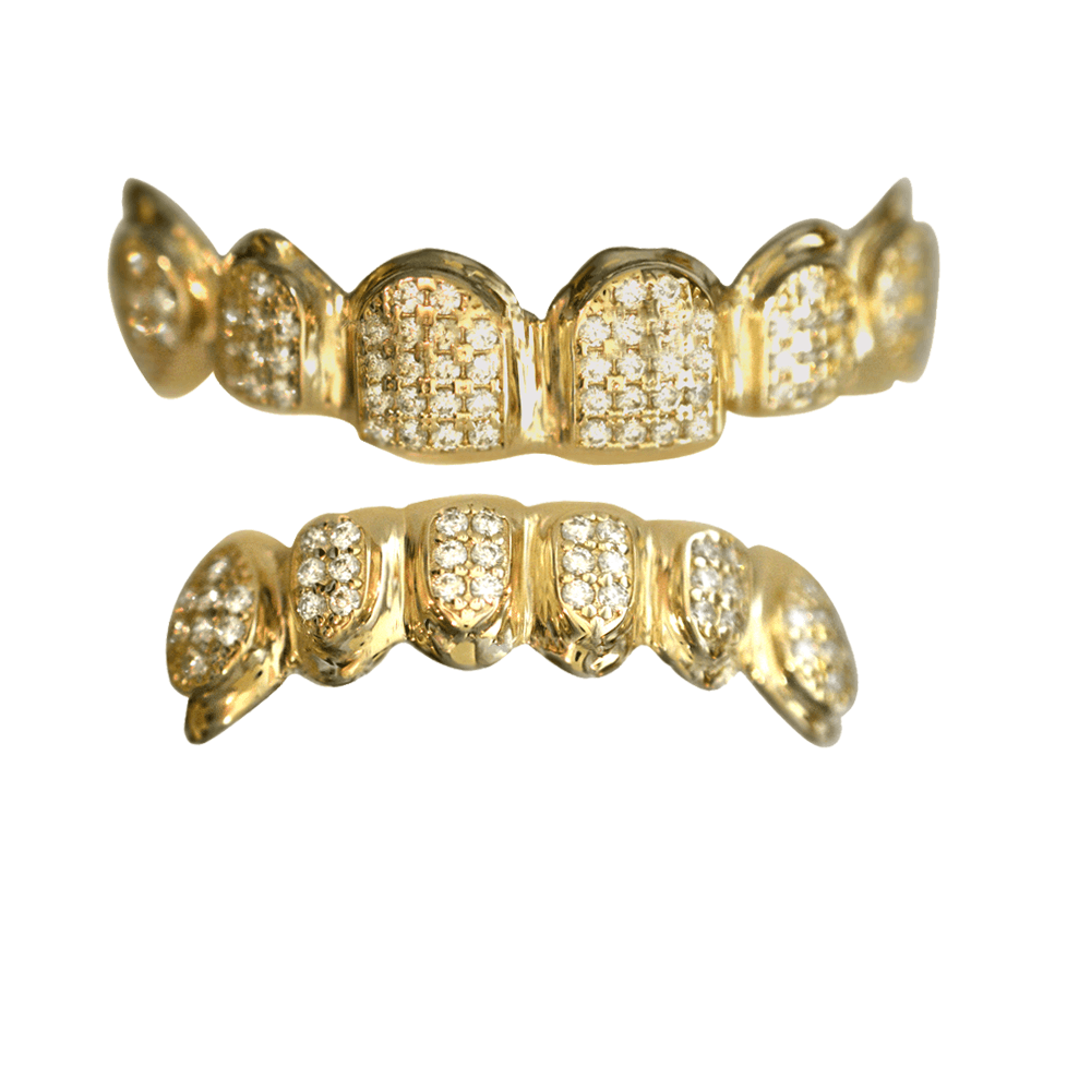 Gold Fully Iced Out Set - Buy Gold Teeth 194d1f63b