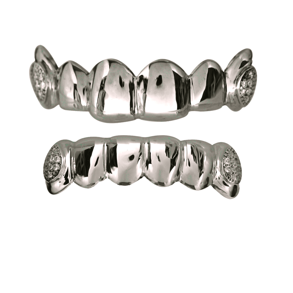 Sterling Silver 2 Teeth Iced Out Set - Buy Gold Teeth d4fa240b3444