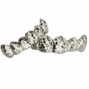 Silver Solid Top and Bottom Grillz