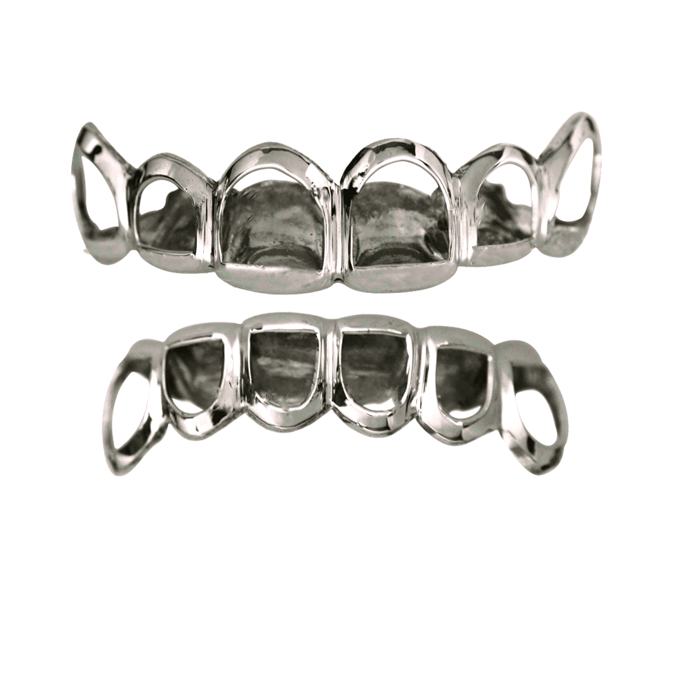 Where to buy silver - Silver Open Face Top And Bottom Grillz