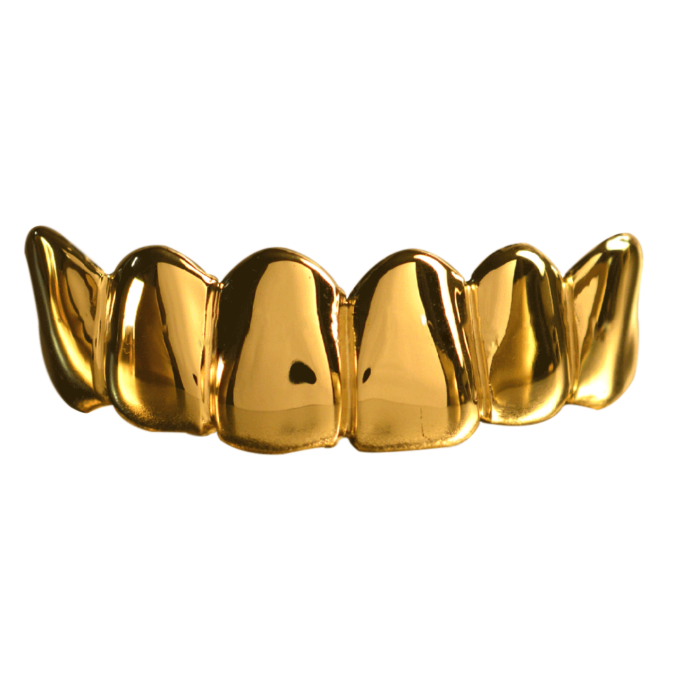 Gold Solid Deep Cuts Top Grill
