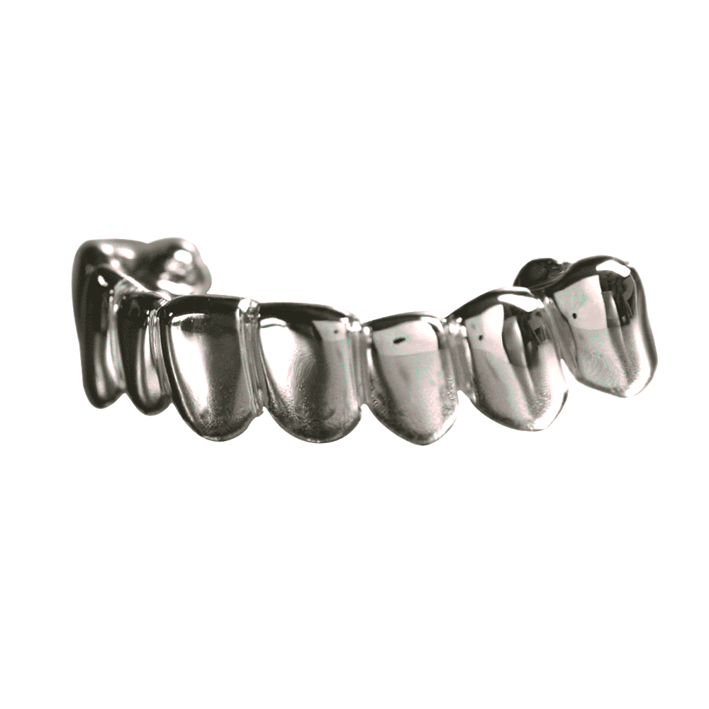 Silver Solid Deep Cuts Bottom Grill
