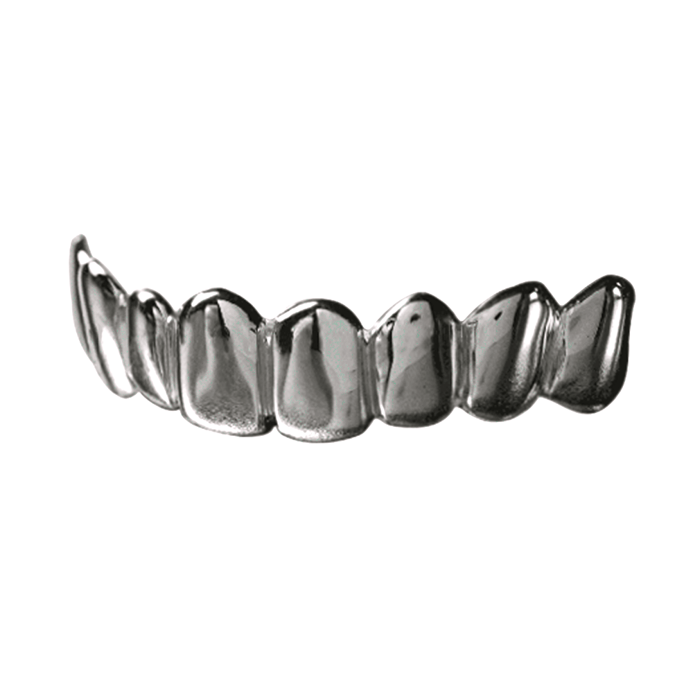 Silver Solid Deep Cuts Top Grill